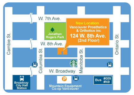 Map:  124 West 8th Avenue (2nd floor), Vancouver BC V5Y 1N2 Tel: 604-731-3319